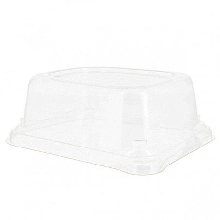 Tapa de Plástico para Envase Caña de Azúcar 24x11cm (50 Uds)