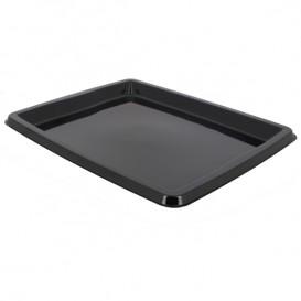 Bandeja Plastico Rectangular Negro 316x265x20mm (50 Uds)