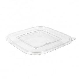Tapa Plana Plástico para Bol PET 12x12cm (50 Uds)