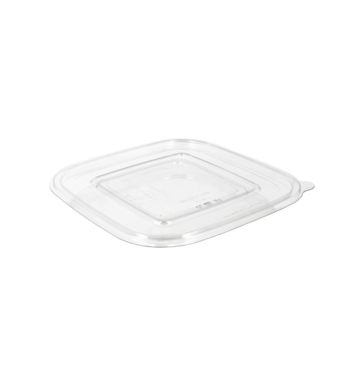 Tapa Plana Plástico para Bol PET 175x175mm (50 Uds)
