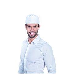 Gorro Cocinero Rejilla Algodón Blanco (1 Ud)