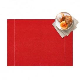 "Mantel Individual ""Day Drap"" Rojo 32x45cm (12 Uds)"