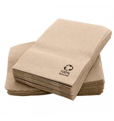 "Servilletas de Papel Eco ""Recycled"" 17x17cm (200 Uds)"