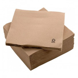"Servilleta de Papel Eco ""Recycled"" 20x20cm 2C (100 Uds)"