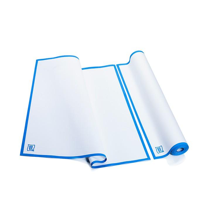 """Paños en Rollo """"Roll Drap"""" Cenefa Azul 52x80cm P80cm (8 Uds)"""