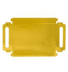 Bandeja Carton Rectangular Oro Asas 12x19cm (100 Uds)