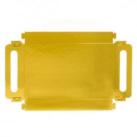 Bandeja Carton Rectangular Oro Asas 16x23cm (100 Uds)