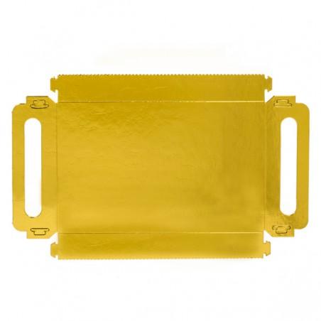 Bandeja Carton Rectangular Oro Asas 22x28cm (25 Uds)