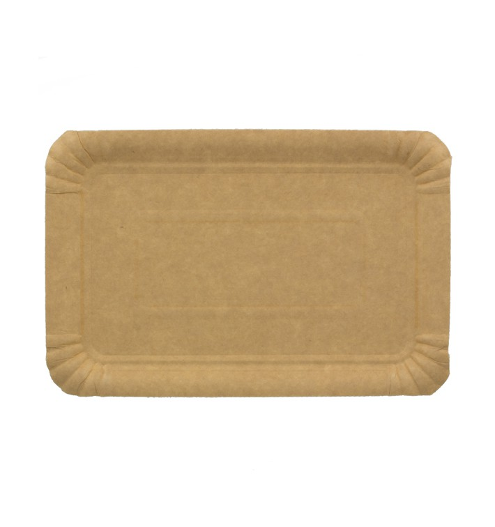 Bandeja de Carton Rectangular Kraft 12x19 cm (100 Uds)