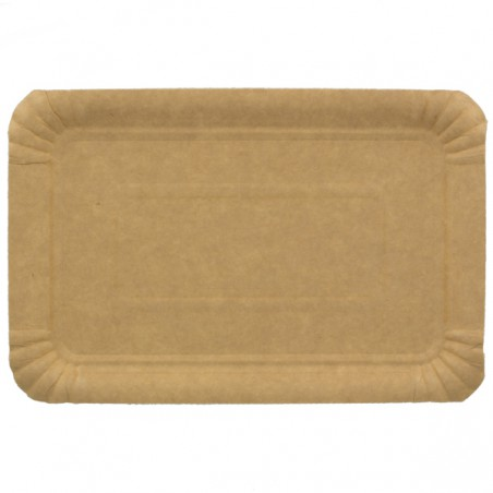 Bandeja de Carton Rectangular Kraft 14x21 cm (100 Uds)