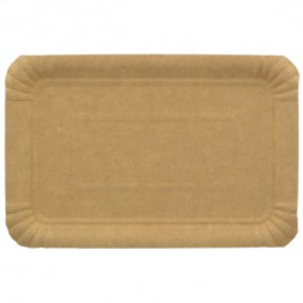 Bandeja de Carton Rectangular Kraft 16x22 cm (1400 Uds)
