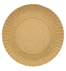 Plato de Carton Redondo Kraft 180 mm (100 Uds)