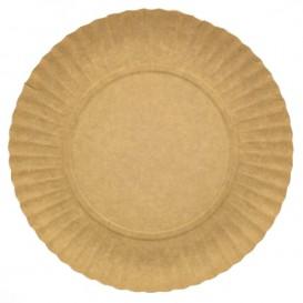 Plato de Carton Redondo Kraft 250 mm (100 Uds)