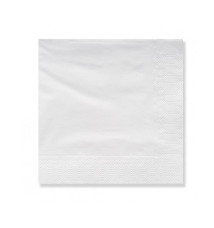 Servilleta Papel Cenefa 20x20 3 Capas Blanca (100 Uds)