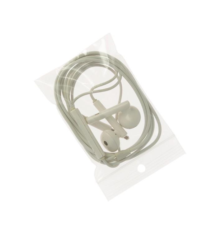 Bolsas Zip con Autocierre y Taladro Circular 6x8 cm G200 (1000 Uds)