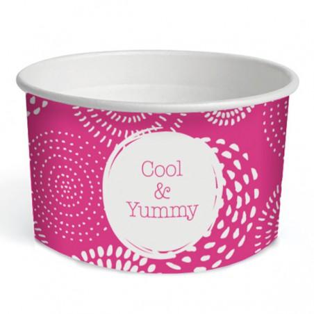 """Tarrina de Cartón para Helados 6,5oz/195ml """"Cool&Yummy"""" (1.260 Uds)"""