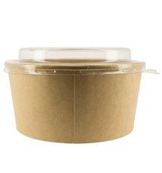 Tarrina de Cartón Kraft con Tapa PET 25 Oz/750 ml (50 Uds)