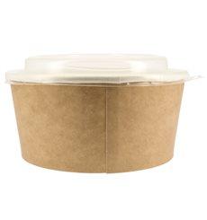 Tarrina de Cartón Kraft con Tapa PP 25 Oz/750 ml (250 Uds)