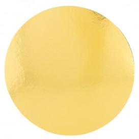 Disco de Carton Oro y Blanco 220 mm (800 Uds)