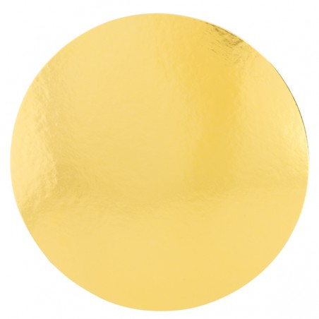 Disco de Carton Oro y Blanco 320 mm (100 Uds)