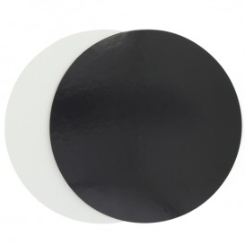 Disco de Carton Negro y Blanco 170 mm (100 Uds)