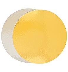 Disco de Carton Oro y Plata 240 mm (100 Uds)