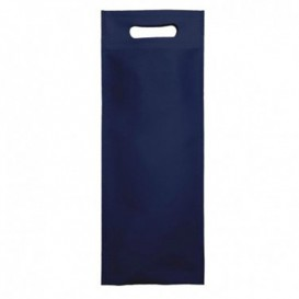 Bolsa Termosellada con Fuelle en Base Azul Marino 17x40+10cm 80g (25 Uds)