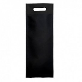 Bolsa Termosellada con Fuelle en Base Negro 17x40+10cm 80g (25 Uds)