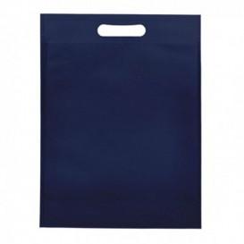 Bolsa Termosellada con Fuelle en Base Azul Marino 17x22,5+5cm 80g (25 Uds)