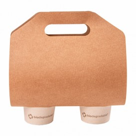 Portavasos Papel Kraft 46,5x22,5cm Ø6,7cm (400 Uds)