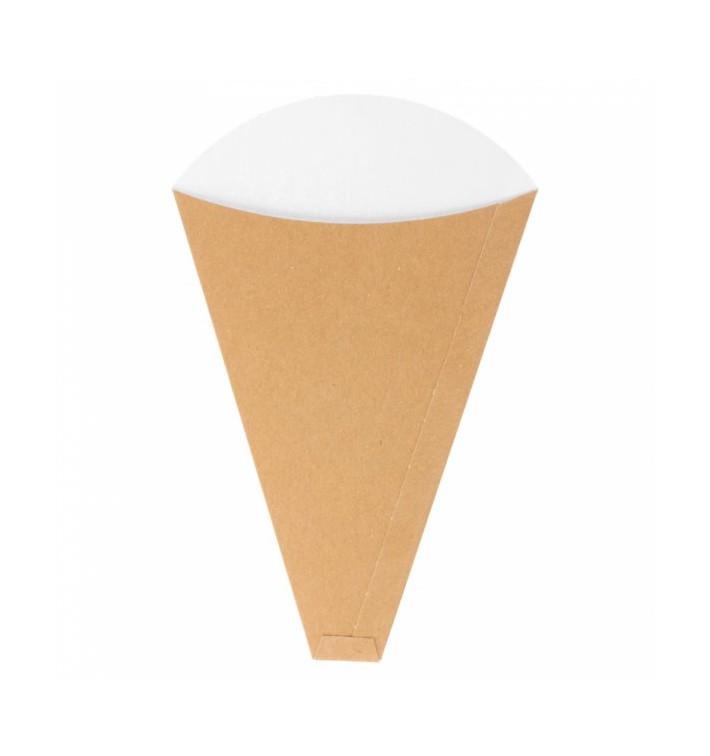 """Cono Kraft """"Crêpes"""" 12x2,5x19cm 300g/m2 (2000 Uds)"""