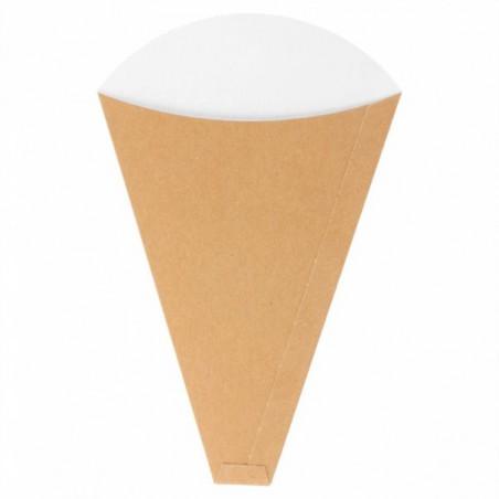 """Cono Kraft """"Crêpes"""" 12x2,5x19cm 300g/m² (2000 Uds)"""