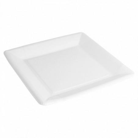 Plato de Papel Biocated Blanco Cuadrado 23cm (20 Uds)