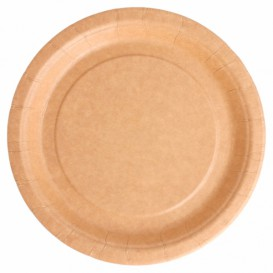 Plato de Papel Biocated Natural  Ø18cm (400 Uds)