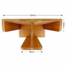 Organizador de Vasos y Tapas de Bambú 23x12x30cm (8 Uds)