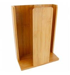Organizador de Vasos y Tapas de Bambú 23x12x30cm (1 Ud)