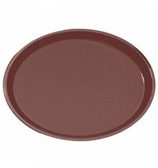 Bandeja PP Oval Antideslizante Marrón 67,0x55,5cm (6 Uds)