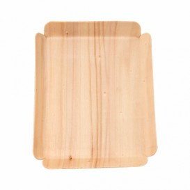 Barquilla de Madera Rectangular 15x11,5x1,5 cm (200 Uds)