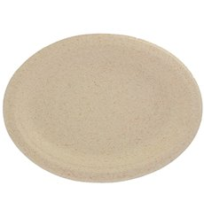 Plato Oval de Pulpa de Trigo Natural 26x20cm (800 Uds)