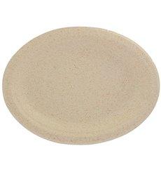 Plato Oval de Pulpa de Trigo Natural 26x20cm (50 Uds)