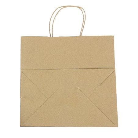 Bolsa Papel Kraft Marron con Asas 100g 30+18x29cm (200 Uds)