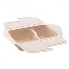 Envase MenuBox Caña de Azúcar 2C 21x15x5cm 800ml. (150 Uds)