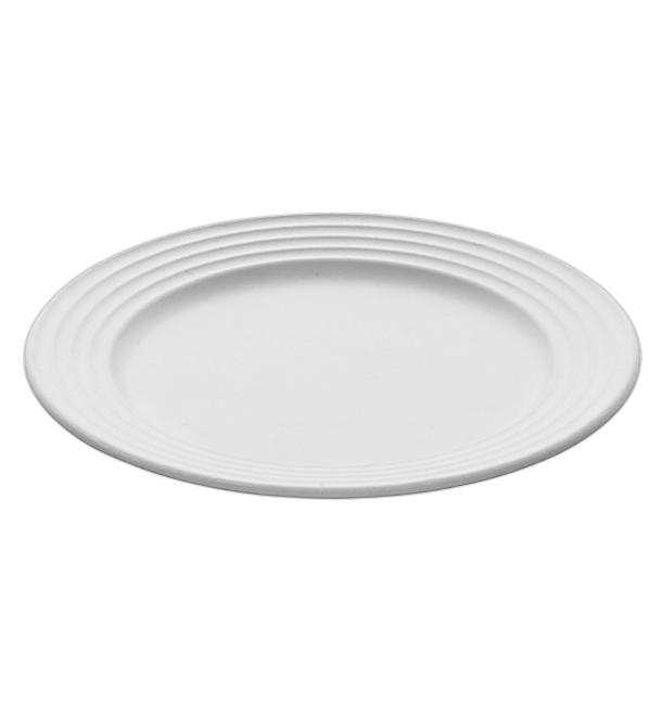 Plato Caña de Azucar Premium Wave Blanco Ø26cm (50 Uds)