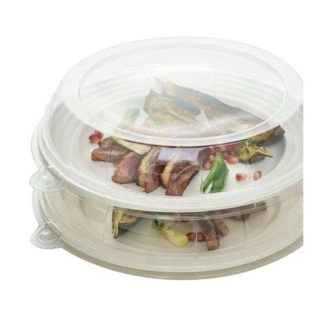 Tapa de Plastico Transparente para Plato 26x5cm (125 Uds)