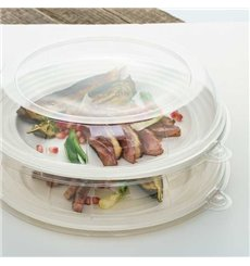 Tapa de Plastico Transparente para Plato 26x5cm (21 Uds)