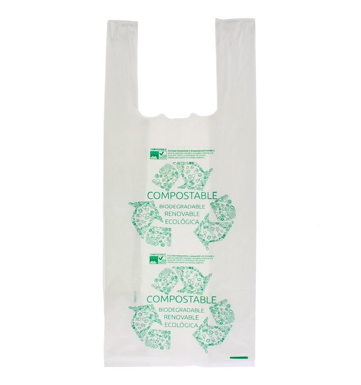Bolsa Plastico Camiseta 100% Biodegradable 35x50cm (100 Uds)
