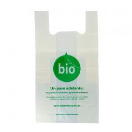 Bolsa Plastico Camiseta 100% Biodegradable 50x55cm (1000 Uds)