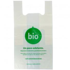 Bolsa Plastico Camiseta 100% Biodegradable 55x60cm (100 Uds)