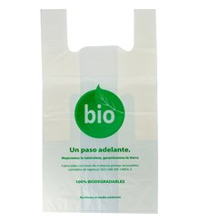 Bolsa Plastico Camiseta 100% Biodegradable 55x60cm (500 Uds)