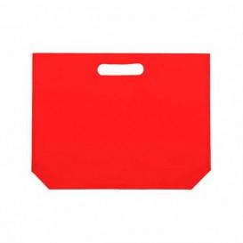 Bolsa Reutilizable Troquelada TNT Roja 34+8x26cm 80g (25 Uds)